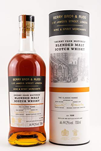Berry Bros. & Rudd Blended Malt Sherry Whisky mit Tube (1 x 0.7 l)
