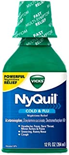 Vicks NyQuil Cold & Flu Original Liquid (Pack of 4)