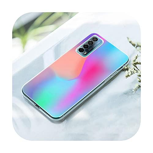 Gradient Rainbow picture Funda para Huawei P50 Pro P40 Lite E P30 Pro P10 Plus P20 Lite P Smart Z 2021 Pro 2019 Soft Cover-002-P10 Lite
