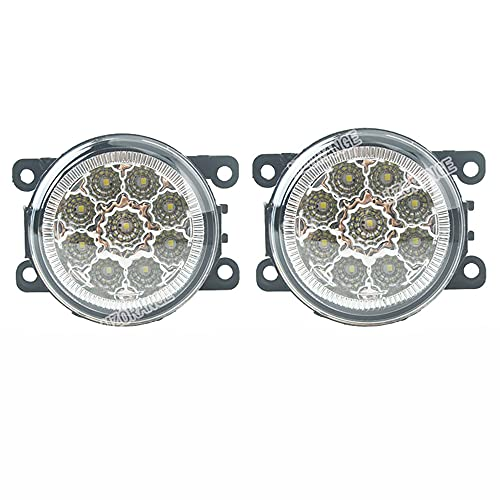 YSSMAO para Nissan Navara D40 Note E11 Pathfinder R51 Fog Luces LED Bombillas para Mitsubishi L200 Outlander 2 Pajero 4 Galant Grandis 2Pcs,Blanco