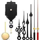 Quartz Pendulum Clock Movement Mechanism DIY Repair Parts Replacement with 2 Pairs Hands and Pendulum for DIY Clock Repair