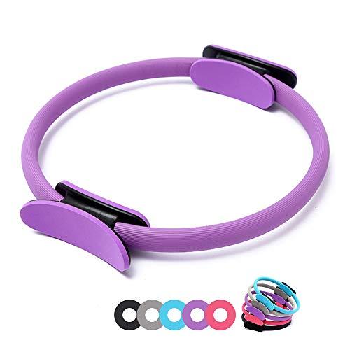 n.d. Anello Cerchio Pilates Sport Yoga Fitness Ginnastica Palestra Esercizi Interno Cosce Adduttori Addominali Donna Uomo Unisex 30 35 38 Cm (Viola)