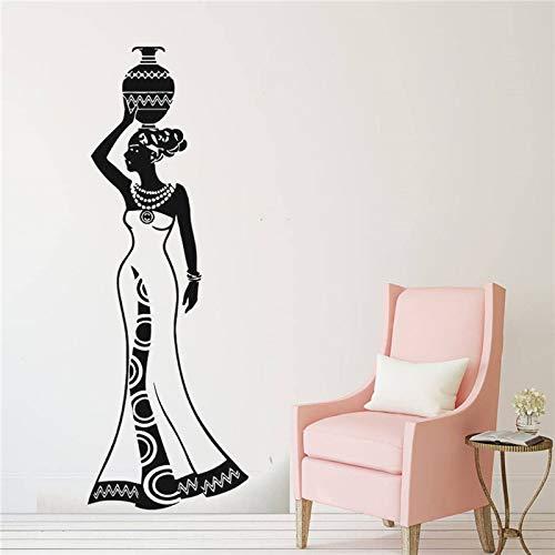 hetingyue muursticker raam muursticker woonkamer beauty gezicht vrouw Afrikaanse stijl Afro Decoratie van het huis Afrika