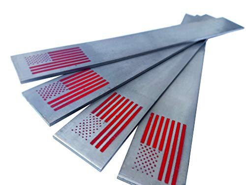 """Patriot Steel - 1095 High Carbon Knife Making & Forging Steel 12""""x1.5""""x.125"""" (Four Pack)"""