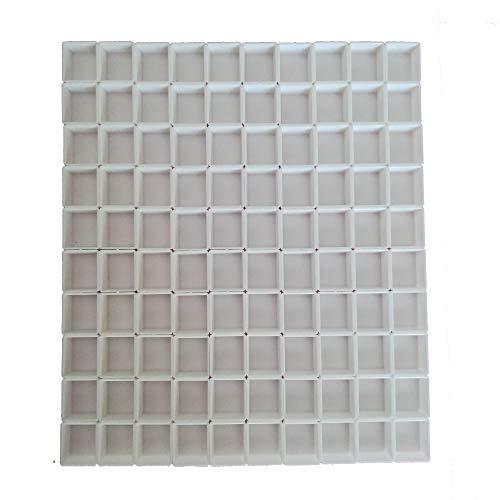 BOOYEE Empty Plastic Watercolor Paint Pans -100pcs Half Pans