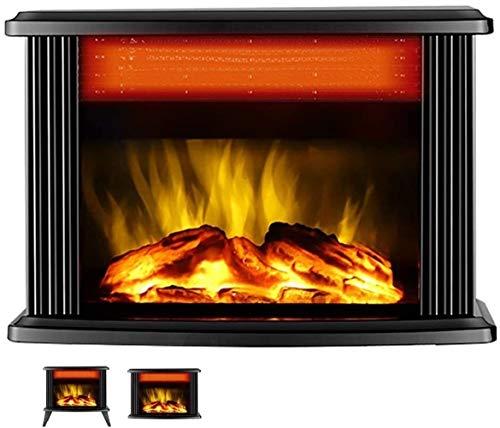 Hornos chimeneas Calentador Chimenea Estufa eléctrica Calentador de 1000W / 2000W eléctrica con efecto 3D Dos  velocidad de calentamiento de 1800W / 2000W protección contra el sobrecalentamiento del