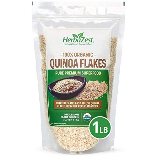 Quinoa Flakes Organic – Nutrient Rich Superfood - Complete Protein Source - Vegan, Gluten Free & USDA Certified - 16oz (454g) – Easy to Use with Yogurt, Cereal, Granola, Baked & Non-Baked Goods