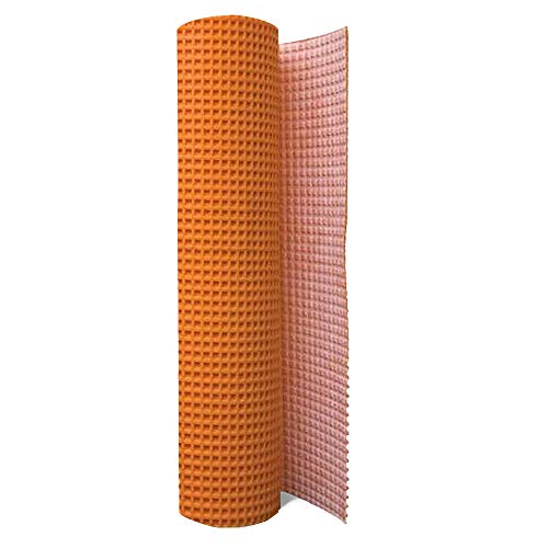 Uncoupling Membrane 1/8 inch Thick, 3.3 ft x 32.8 ft / 108 Square Feet, Uncoupling Membrane for Under Tile, Tile Underlayment Mat, Waterproofing, Anti-Fracture and Crack Isolation Membrane