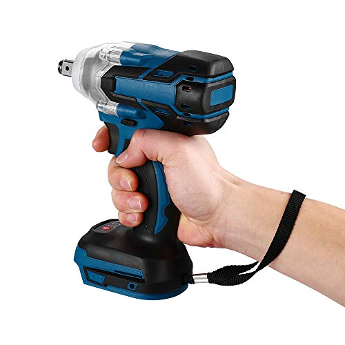 Impact Wrench, Riiai Electric Impact Wrench Cordless Impact Driver1/2 Inch 520N.m 18V Cordless Impact Driver 1/2 Square Brushless Rechargeable Wrench LED Light(battery is not included )