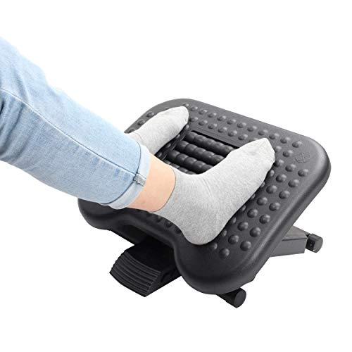 Halter Ergonomic Footrest, 3 Adjustable Height Positions Under Desk Footrest, Black