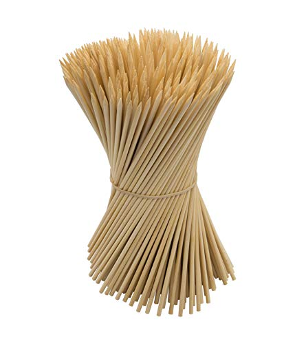 DON PALILLO - 200 Pinchos de bambú para brochetas de 24 cm x 3,8 mm. Especiales para Pinchos barbacoa, brochetas de Frutas.