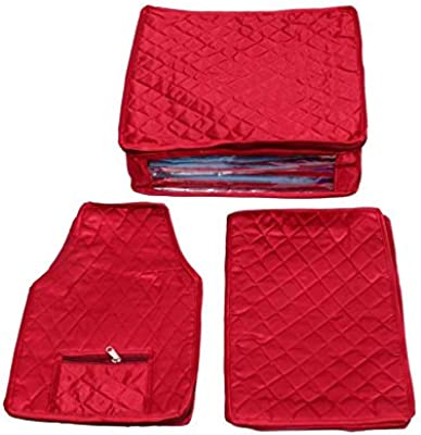 Kuber Industries 10 Piece Satin Cloth Cover, Maroon