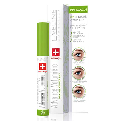 Eveline Cosmetics Konzentriertes | 10 ML | Wimpernserum Advance Volumiere | Wimpernwachstumsaktivator