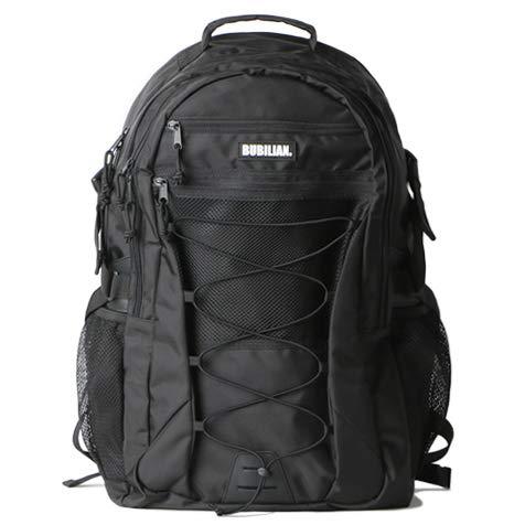 Bubilian Unisex Pally Backpack / 3 Color/Made in Korea/Laptop Sleeve/School Backpack (Black)