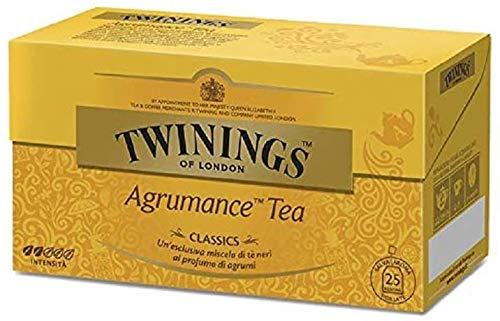 Twinings Tè Clásico - Agrumance - Mezclas Clásicas, Creadas por Master Blenders, que han hecho del Té la Bebida Inglesa y Twinings, la Marca más Famosa del Mundo(25 Bolsas)