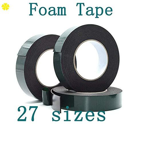 Foam Tape 3 STKS Zwart Dubbelzijdig Waterdichte Montage Lijm Tape Roll voor Automotive Grade Number Plates Cars Trims Sponge Anti-Collision Sealing Strip 1mm*10mm*10m
