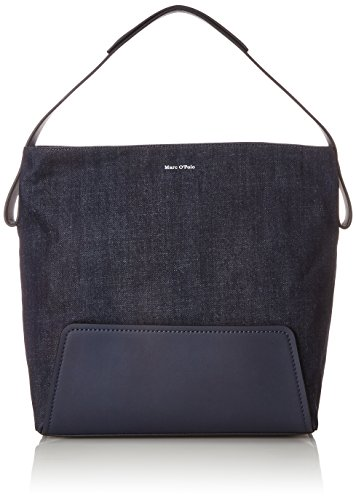 Marc O'Polo Damen Hobo Schultertasche, Blau (Blue Denim), 15.5x35x33 cm