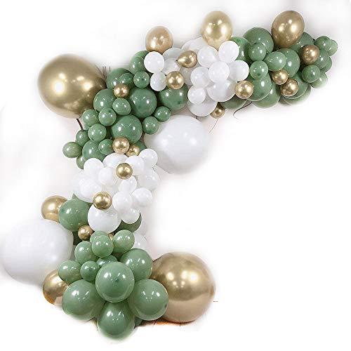Monland - 149 pezzi per sedere gioco di arco per palloncini, fai da te, ghirlanda di palloni verde oliva, per neonati e doccia Nuptiale, festa di compleanno, matrimonio, festa di compleanno