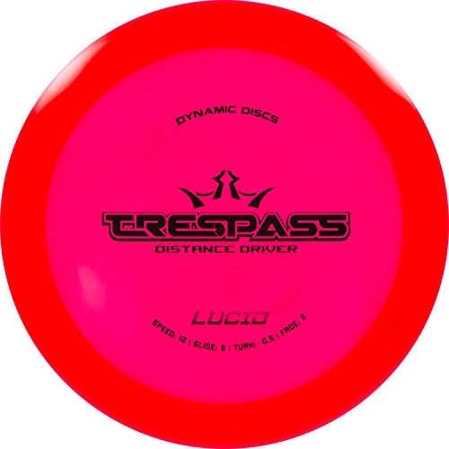 Dynamic Discs Lucid Trespass Disc Golf Driver   Maximum Distance Frisbee Golf Driver   Stable Golf Disc   Stamp Colors Will Vary (Red)
