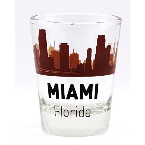 Geschirr, Besteck & Gläser Miami Beach Florida Double Shot Glas von World by Shotglass