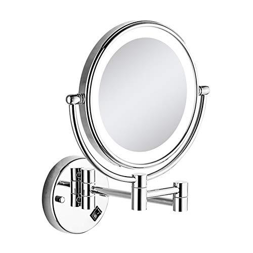 Miroirs Maquillage Double Face Miroir Mural 8 Pouces 3 Fois Grossissement Adapté À Un Traitement Facial pour Rasage Et Maquillage dans Salle De Bain