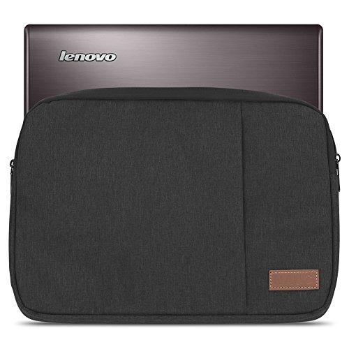 NAUC Sleeve Tasche kompatibel für Lenovo Thinkpad Yoga 370 Schutzhülle 13,3 Zoll Ultrabook Notebook Schutztasche Hülle Soft Cover, Farbe:Schwarz