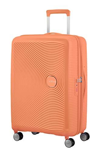 American Tourister Soundbox - Spinner M Expandible Maleta, 67 cm, 71.5/81 L, Naranja (Cantaloupe)