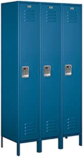 Salsbury Industries 51368BL-U Single Tier 45-Inch Wide 6-Feet High 18-Inch Deep Unassembled Extra Wide Standard Metal Locker, Blue