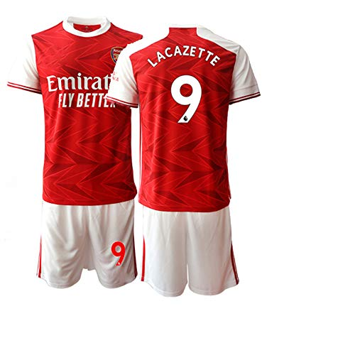 JEEG 20/21 Kinder LACAZETTE 9# Fußball Trikot Jugend Trainings Anzug T-Shirt Set (Kinder Größe 4-13 Jahre) (26)