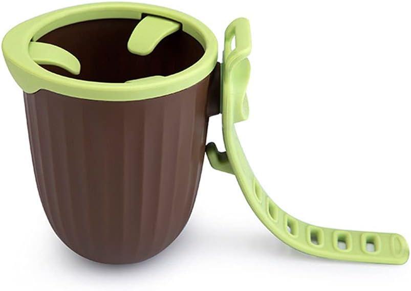 Stroller Cup Holder,Universal Cup Holder Rack Bottle Holder, Pram Storage Rack, 360 Degrees Rotation Drink Holder Fits Most Cups (PP-cup -green)