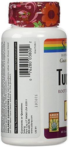 Solaray Turmeric Root Extract 300mg | Joint & Heart Health Support | Guaranteed Potency Extract (60 CT)