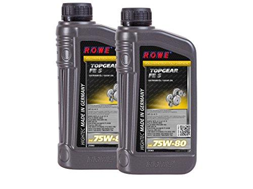 2 (2x1) Liter ROWE HIGHTEC TOPGEAR FE SAE 75W-80 S