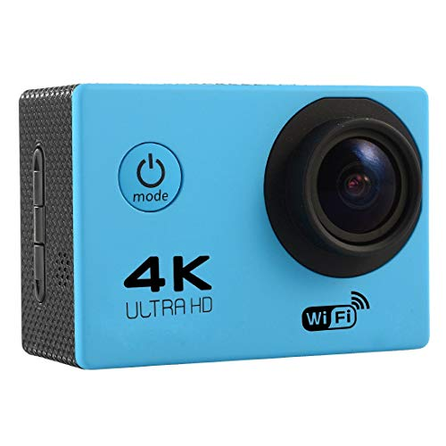 ZMKK Other Camera F60 2.0 inch Screen 4K 170 Degrees Wide Angle WiFi Sport Action Camera Camcorder with Waterproof Housing Case, Support 64GB Micro SD Card(Black) (Color : Blue)