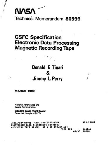 GSFC specification electronic data processing magnetic recording tape (English Edition)