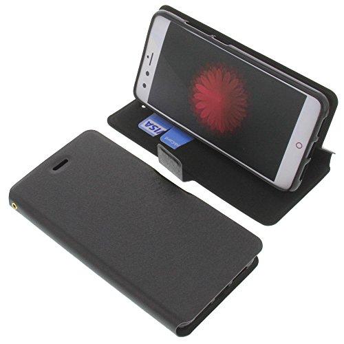 foto-kontor Tasche für ZTE Nubia Z11 Mini Book Style schwarz Schutz Hülle Buch