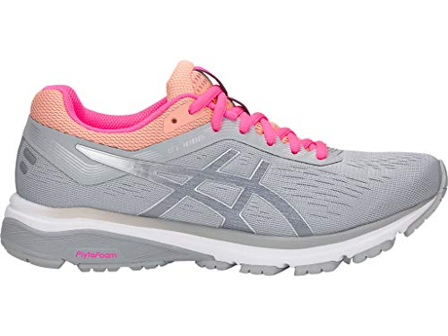 ASICS Women's GT-1000 7 Running Shoes, 8.5M, MID Grey/Silver
