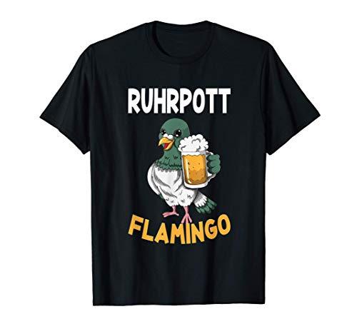 Ruhrpott Flamingo Taube mit Bier Ruhrgebiet Pottliebe Kohle T-Shirt