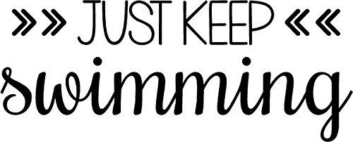 DS Inspirational Decals Finding Dory Movie Quote - Just Keep Swimming - Vinyl Kids Wall Nemo Decal - 20