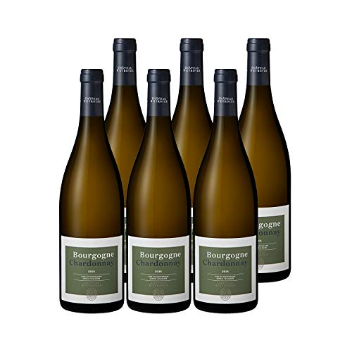 Bourgogne Chardonnay Blanc 2018 - Château dEtroyes - Vin AOC Blanc de Bourgogne - Cépage Chardonnay - Lot de 6x75cl
