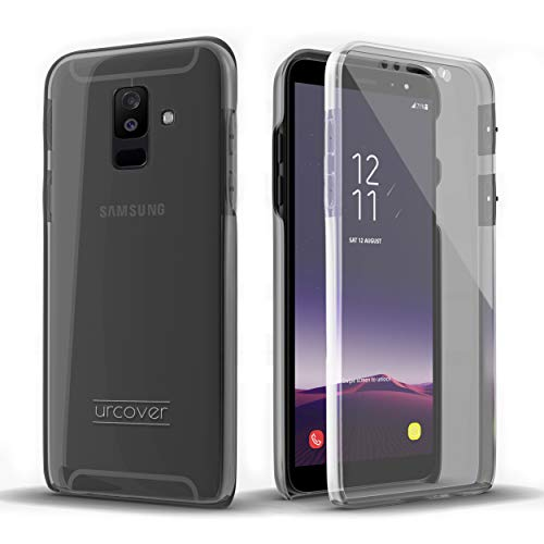 Urcover Touch Hülle 2.0 kompatibel mit Samsung Galaxy A6 2018 Hülle I Original berühmt durch Galileo I Hard-Edition I QI-fähig I R&um 360° Schutzhülle I Crystal Clear Hülle in Transparent