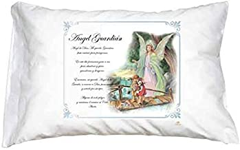 Guardian Angel Pillow Case Spanish Prayer