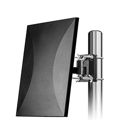 [Upgraded 2019] HDTV Antenna Amplified Digital Outdoor Antenna Up to 150 Miles Amplifier Signal Booster Support 4K 1080P UHF VHF Freeview HDTV Channels, 33ft Coax Cable for Indoor/Outdoor/RV/Attic Use