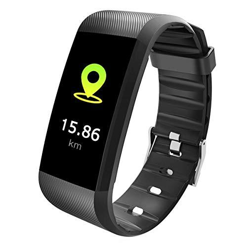 TEZER Fitness Tracker, Activity Tracker Bluetooth Smartwacth met slaapmonitor, hartslagmeter, stappenteller Smartwatch voor iPhone 7 7 Plus 6 Samsung S8 en andere Android of iOS smartphones (zwart)