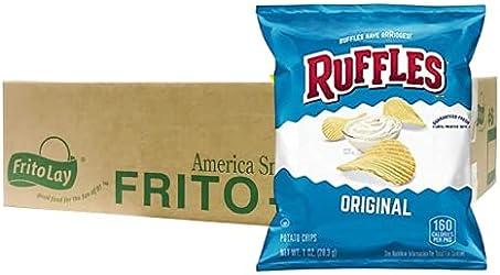 Ruffles Original Potato Chips, 28.3g (Pack of 45) - Carton