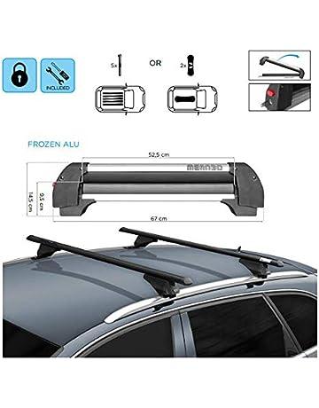 in alluminio per trasportare 2 sci e 4 snowboard adatti anche per snowboard 76,7 cm da montare sul tetto dell/'auto Portasci per tetto dell/'auto bloccabili