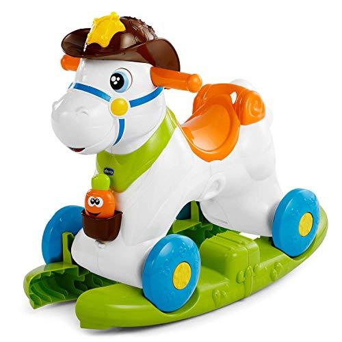 Chicco Cavallo a Dondolo per Bambini Baby Rodeo, Gioco Educativo e Interattivo, Cavallo Cavalcabile Bambino con Effetti Sonori, Max 25 kg, Giochi per Bambini 1-3 Anni