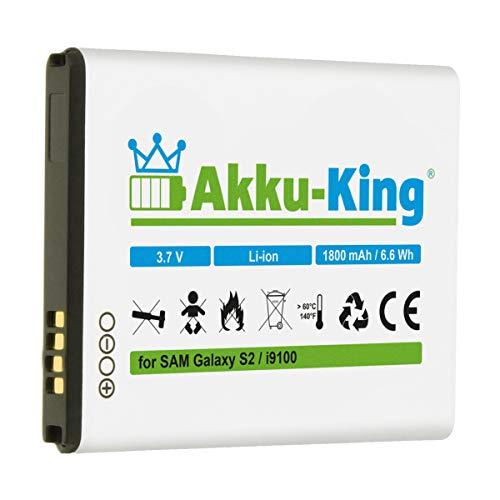 Akku-King Akku kompatibel mit Samsung EB-F1A2GBU, CSTD - Li-Ion 1800mAh - für Galaxy S2, II i9100, SGS 2, Galaxy R I9103, S2 Plus i9105P