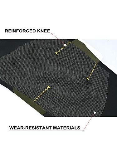 Magcomsen Mens Winter Snow Ski Pants Water Resistant Reinforced Knee Zipper Pockets Softshell Fleece Lined Hiking Pants