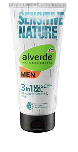 Alverde men -Duschgel Sensitive Nature 3 in 1 - 1x 200 ml