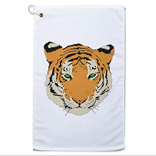 Style In Print Golf Towel Tiger Animal Image Cotton Bag Accessories White Design Only